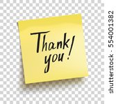 yellow sticky note with text ... | Shutterstock .eps vector #554001382