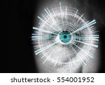 view of the eye of a woman with ... | Shutterstock . vector #554001952