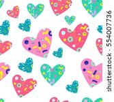 seamless pattern with colorful...   Shutterstock .eps vector #554007736