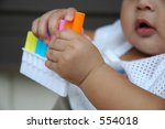 healthy six month baby with his ... | Shutterstock . vector #554018
