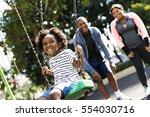 exercise activity family... | Shutterstock . vector #554030716