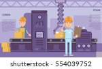 manufactory production with... | Shutterstock .eps vector #554039752