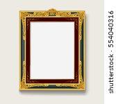 vintage gold picture frame | Shutterstock .eps vector #554040316