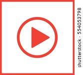 play button | Shutterstock .eps vector #554053798