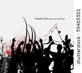 celebration people | Shutterstock .eps vector #55405501