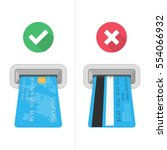how to insert credit card in... | Shutterstock .eps vector #554066932