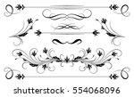 set vintage ornament and... | Shutterstock .eps vector #554068096