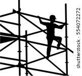 scaffolder on the frame... | Shutterstock .eps vector #554072272