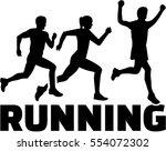 running group | Shutterstock .eps vector #554072302