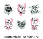 set of handwritten lettering... | Shutterstock .eps vector #554084872