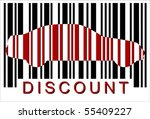 discount car bar code  isolated ...
