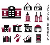 real estate  asset icon set | Shutterstock .eps vector #554104432