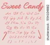 sweet candy. candy cane... | Shutterstock .eps vector #554104882