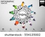 businessman brainstorming ... | Shutterstock .eps vector #554135002
