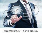business  technology  internet... | Shutterstock . vector #554140066