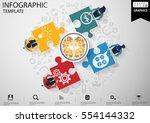businessman brainstorming   per ... | Shutterstock .eps vector #554144332