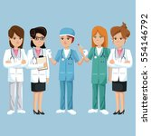 group staff medical health | Shutterstock .eps vector #554146792