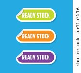 ready stock folded paper labels | Shutterstock .eps vector #554152516