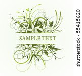 floral frame   Shutterstock .eps vector #55415620