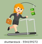 business woman chasing money on ... | Shutterstock .eps vector #554159272