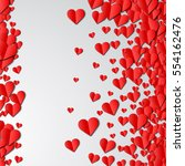 valentines day card with... | Shutterstock .eps vector #554162476