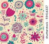 summer floral seamless pattern | Shutterstock . vector #55416337