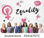 feminism equality confidence... | Shutterstock . vector #554167072