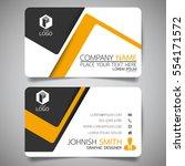 yellow modern creative business ... | Shutterstock .eps vector #554171572