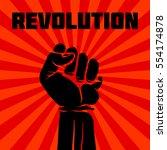 protest  rebel vector... | Shutterstock .eps vector #554174878