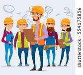 cartoon characters. team home... | Shutterstock .eps vector #554175856