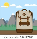 backpack vector flat design... | Shutterstock .eps vector #554177206