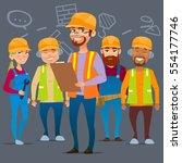 cartoon characters. team home... | Shutterstock .eps vector #554177746
