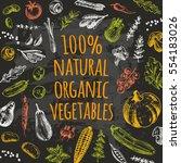 natural organic vegetables card....   Shutterstock .eps vector #554183026