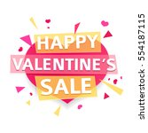 design banner for valentine's... | Shutterstock .eps vector #554187115