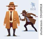 detective character design ... | Shutterstock .eps vector #554189818