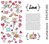 cover with hand drawn... | Shutterstock .eps vector #554195182