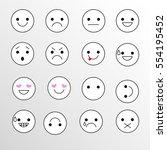 set smiley icons for... | Shutterstock .eps vector #554195452