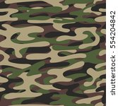 camouflage pattern background.... | Shutterstock .eps vector #554204842