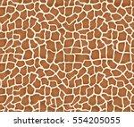 giraffe texture pattern... | Shutterstock .eps vector #554205055