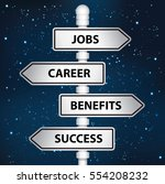 jobs career benefit and success ... | Shutterstock .eps vector #554208232