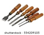 set of wood chisel for carving... | Shutterstock . vector #554209105