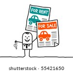 cars for sale   for rent | Shutterstock .eps vector #55421650
