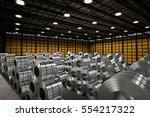 3d rendering roll of steel... | Shutterstock . vector #554217322