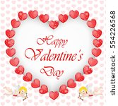 valentine's day background with ... | Shutterstock . vector #554226568