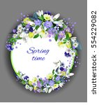 Spring Primroses Card With...