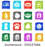goods for pets web icons in... | Shutterstock .eps vector #554237686