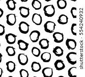 vector monochrome mark making... | Shutterstock .eps vector #554240932