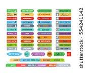 shop buttons vector set. | Shutterstock .eps vector #554241142