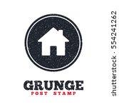 grunge post stamp. circle...
