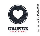 grunge post stamp. circle...   Shutterstock .eps vector #554242762